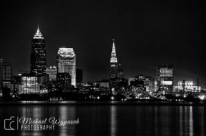 Cleveland, Black and White, B&W, City, Terminal Tower